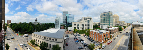 Downtown Columbia, South Carolina Panoramic Cityscape
