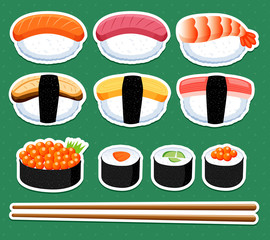 Sushi vector set