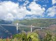 pont routier à haubans, route des Tamarins