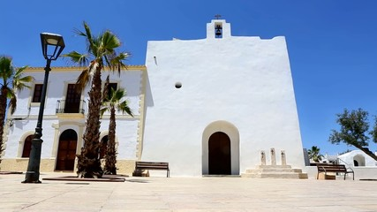 Formentera San Francisco Javier white church mediterranean