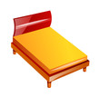 vector icon bed