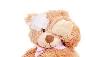 Injured Sweet Teddy Bear