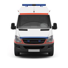Rettungswagen Frontansicht