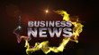 BUSINESS NEWS Text in Particle (Double Version) Red - HD1080