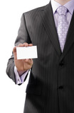 Bussiness man with calling card