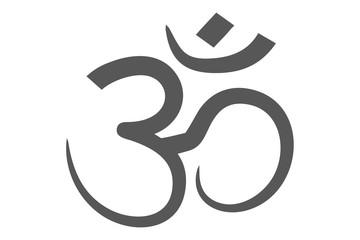 om symbol grey
