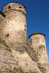 Old castle's watchtowers