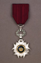 A silver awarded for valor in action.