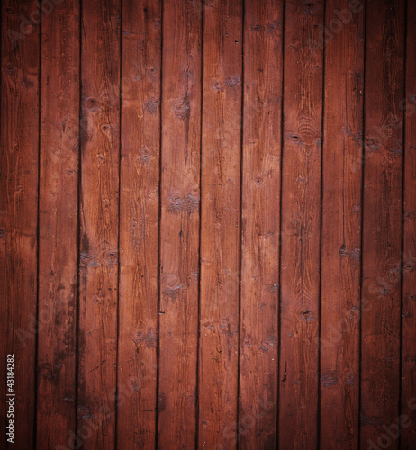 brown wood panels.
