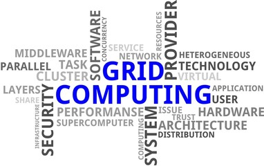 Grid computing wordcloud