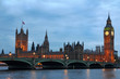 Westminster Bridge with Big Ben in London