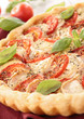 tomato, cheese and basil tart