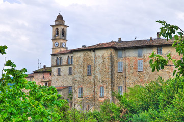 Panoramic view of Travo. Emilia-Romagna. Italy.