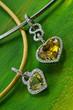necklace in diamond, heart shape