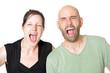 Schreiendes Paar