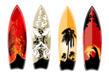 set of surfboard