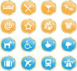 icone vettoriali hotel e vacanze