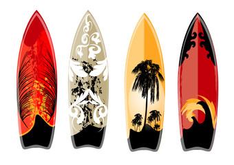 set of surfboard