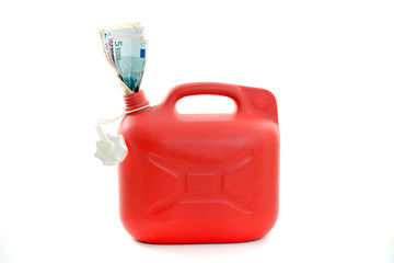 Roter Benzinkanister