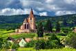 Eglise d'Hunawihr , Alsace (Fr).