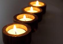 bougies simplicité en bois