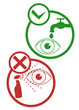 Eye security sign