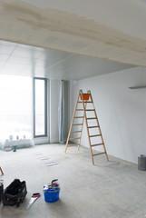 Baustelle Innenausbau Raumteilung