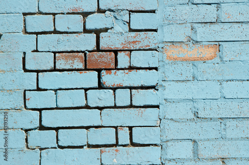 Blue bricks.