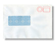 Close-up of an envelope.