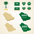 Saudi Arabia Map blank and regional