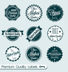 Vector Set: Premium Quality Labels