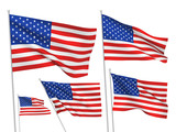 United States (USA) vector flags