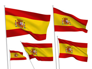 Spain vector flags