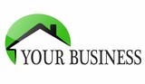 green houses - business logo