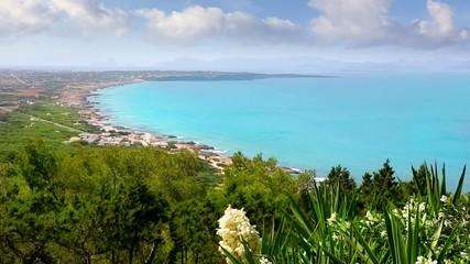 Formentera with ibiza island in background north coast