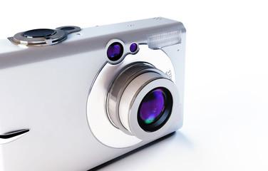 modern digital camera on a white background