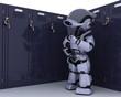 Robot with school locker