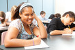 Pretty African-American Teen in Class