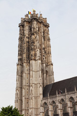 Sacred Rumold's cathedral in Malines, Belgium.