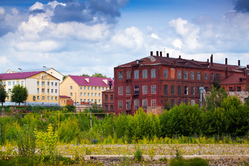 old building of textile factories