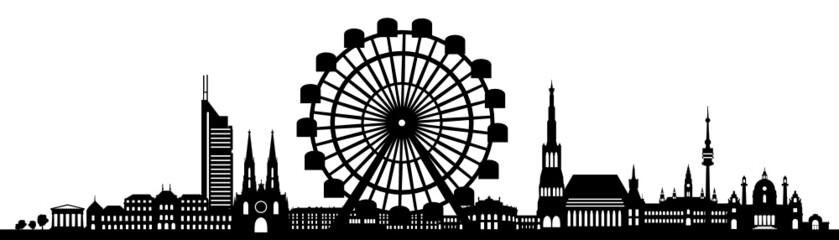 Wien Skyline Riesenrad
