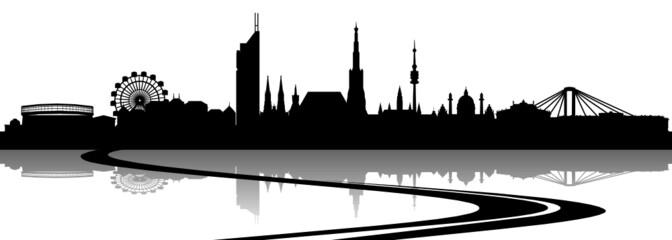 Wien Skyline Straße
