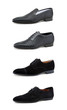 Men's casual shoes on white.