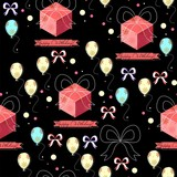 Birthday seamless pattern (vector version)