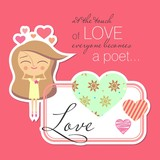 Valentine card design (vector version)