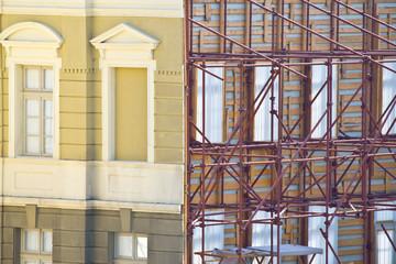 Old building under restoration construction