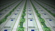 Money conveyor, euro, loop-able 3d animation
