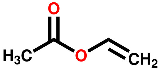 Vinyl acetate structural formula