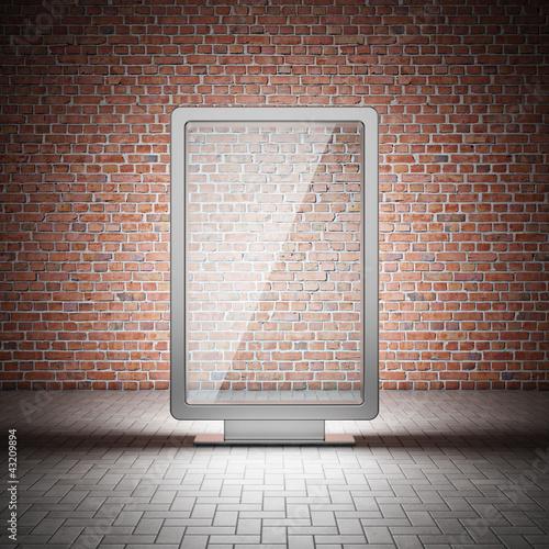 Blank street advertising billboard - 43209894