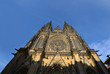 Detail of gothic St. Vitus Cathedral in Prague
